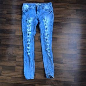 Denim - Ripped jeans super strerchy